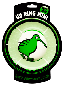 Ringo dla psa Kiwi Walker Let's Play! Glow Ring - Mini