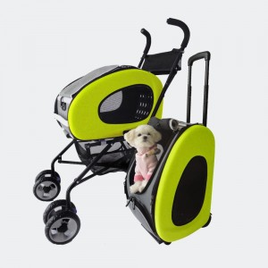 Wózek  InnoPet® Buggy 5 in 1 - zielony, do 8 kg